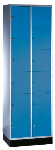 """""""S 4000 Intro"""" Compartment Locker (6 compartments on top of one another)"""