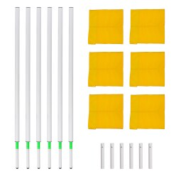 Sport-Thieme Tilting Boundary Pole Set Red/white flags