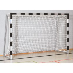 Handball Goal 3x2 m, stands in ground sockets Red/silver Welded corner joints