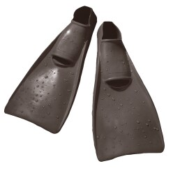 Sport-Thieme® Rubber Swimming Fins 26-29; L: 32.5 cm, black
