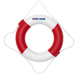 Lifebelt 22 kp load capacity, red/white