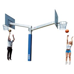 "Sport-Thieme® ""Fair Play Duo"" Basketball Unit"