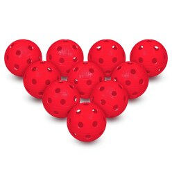 Floorball Balls, Set of 10 Red