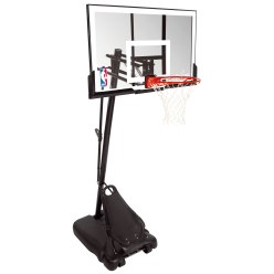 "Spalding® ""NBA Gold Exacta High Lift Portable"" Basketball Unit"