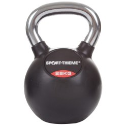 Sport-Thieme Rubber-Coated, Smooth Chrome-Handled Kettlebell