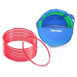 Set of ø 70 cm Gymnastic Hoops with Storage Bag