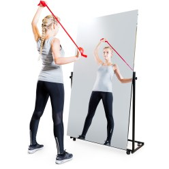 Mobile Corrective Foil Mirror 175x100 cm (HxW), 1 section, swivelling