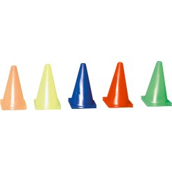 Set of 10 Marking Cones 13x13x23 cm