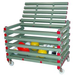 REA® Plastic Equipment Storage Trolley Open-top version