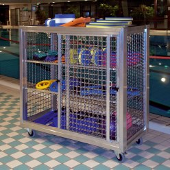 Swimming Pool Shelved Trolley