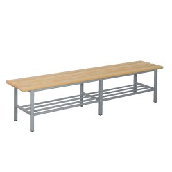 "Sport-Thieme® ""Style A"" Changing Room Bench With shoe shelf"