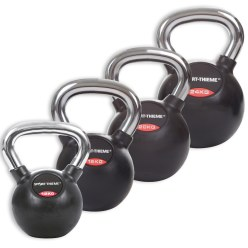 Sport-Thieme Rubberised, Smooth Chrome-Handled Set Kettlebell