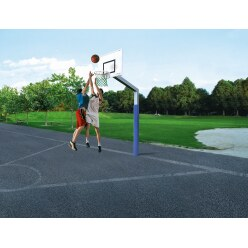 "Sport-Thieme ""Fair Play"" with Hercules-Rope Net Basketball Unit"
