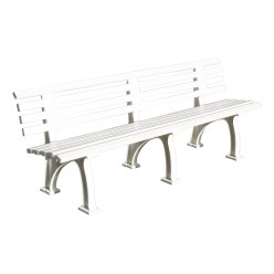 """Berlin"" Tennis Court Bench with Backrest, 200 cm"