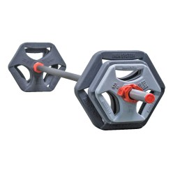 Hot Iron® Barbell Set Premium grey