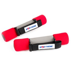 Aerobics Dumbbells 1 kg, red