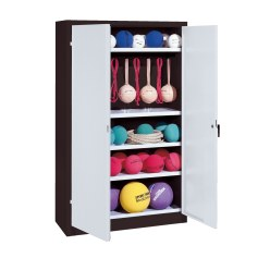 Sports Equipment Locker, HxWxD 195x120x50 cm, with metal double doors (type 2)