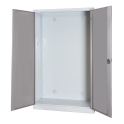 Modular Sports Equipment Cabinet, HxWxD 195x120x50 cm, with Sheet Metal Double Doors