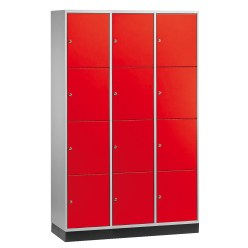 """S 4000 Intro"" Large Capacity Compartment Locker (4-Door Locker) Light grey (RAL 7035), 195x122x49 cm/ 12 compartments"
