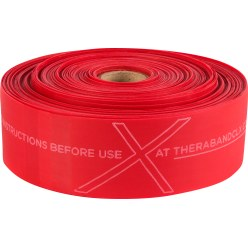 TheraBand® CLX™ Band, 22 m Roll Red, medium