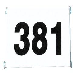 Start Number Set, Made of Tyvek with Advertising Print
