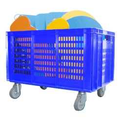 Mobile Storage Basket 60x40x74 cm