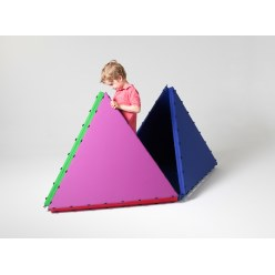 Tukluk® Mat Building Set Large triangles, L: 100 cm, Home version