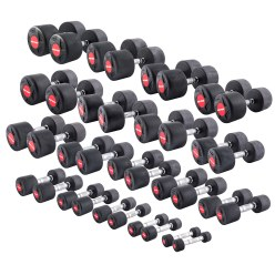 Sport-Thieme Compact Rubber Dumbbell Set