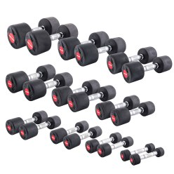 Sport-Thieme® Compact Rubber Dumbbell Set