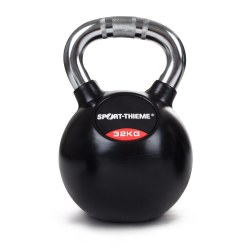 Sport-Thieme® Rubberised Kettlebell with Chrome Handle