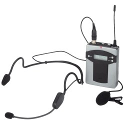 Monacor® Pocket Transmitter with 2 Microphones