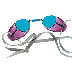 Original Swedish Malmsten Goggles, Mirrored Lenses Blue mirrored lenses