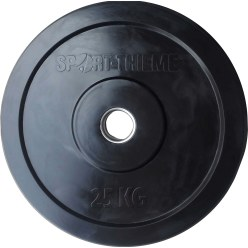 "Sport-Thieme ""Bumper Plate"" Weight Disc, Black"