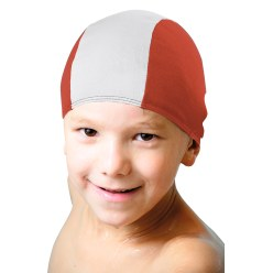 Fabric Swimming Cap Black/white, Adults