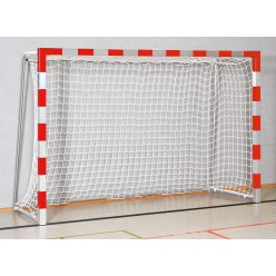 Sport-Thieme 3x2 m, stands in ground sockets, with folding net brackets Handball Goal Blue/silver, Bolted corner joints