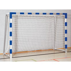 Handball Goal 3x2 m, stands in ground sockets Red/silver Bolted corner joints