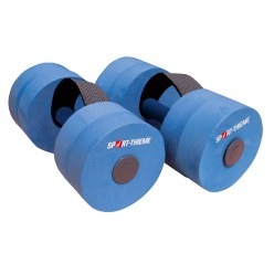 "Sport-Thieme ""Sportime"" Aqua Jogging Dumbbells with Holding Strap Junior length: approx. 28 cm, ø 9 cm"