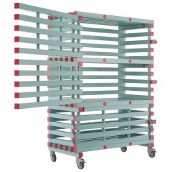 REA Plastic Shelved Trolley, Lockable