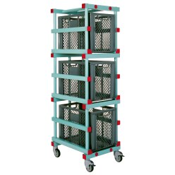 "REA® ""RE3"" Plastic Equipment Trolley"