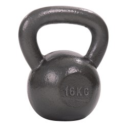 Sport-Thieme Grey-Painted, Hammer-Finish Kettlebell