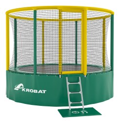 "Akrobat ""Gallus"" Trampoline ø 3.60 m, Green/yellow"