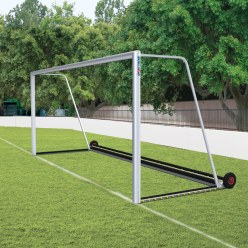 """Sport-Thieme Fully Welded, """"Safety"""" Full-Size Football Goal with PlayersProtect"""