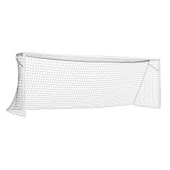 "Sport-Thieme ""Compact Plus"" Full-Sized Football Goal, in ground sockets, enamelled white"