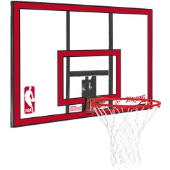 "Spalding ""NBA Polycarbonate Backboard"" Basketball Wall Unit"