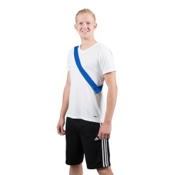Team sash with touch fastener Blue, Adults, length: approx. 60 (120) cm