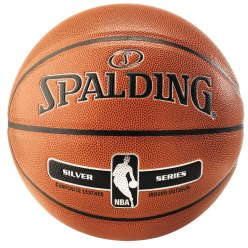 "Spalding ""NBA Silver"" Basketball"