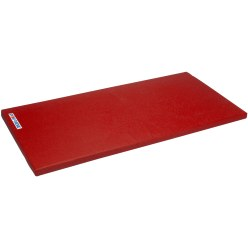 "Sport-Thieme® ""Special"" Gymnastics Mat, 150x100x6 cm Blue gymnastics mat material, With leather corners and carrying handles"