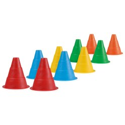 "Set of ""Flexible"" Marking Cones, 15 cm"