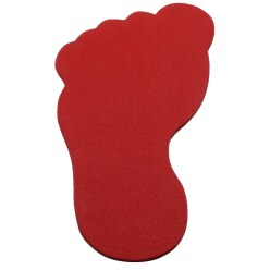 Sport-Thieme Floor Marker Red, Arrow, 35 cm