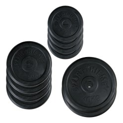 Sport-Thieme Rubber Weight Disc Set, 50 kg
